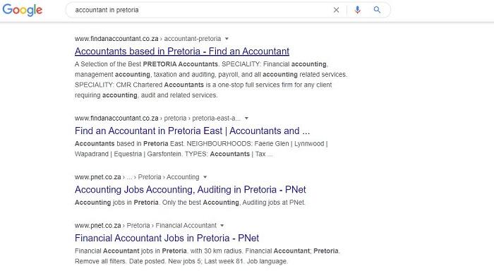 Accountant in Pretoria